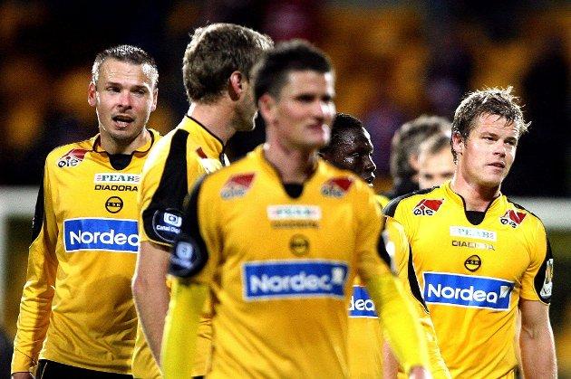 MÅLSCORERE: Arild Sundgot (t.v) og Marius Johnsen scoret hvert sitt mål mot Lyn. FOTO: ROAR GRØNSTAD