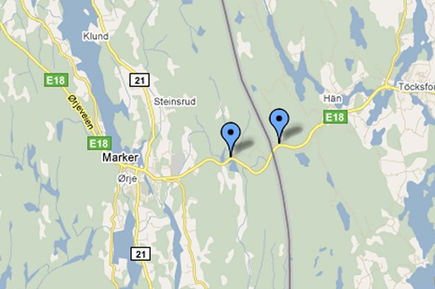 E18: Bildene er fra E18 tatt på begge sider av grensen ved Ørje. GOOGLE MAPS