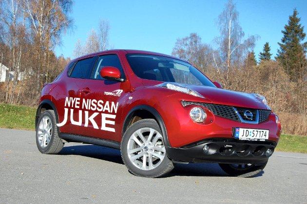 SÆRPREG: Nissan Juke er noe av det morsomste som har kommet på markedet av nye biler på mange år.FOTO: ØYVIN SØRAA