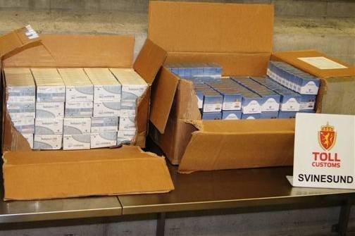 24 000 dopingmidler ble beslaglagt ta tollere kontrollerte en bil i Halden i oktober.