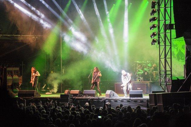 Slayer under Tons of Rock på Fredriksten festning.