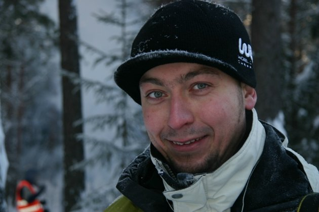 En polsk fotograf på jobb under Rally Norway.