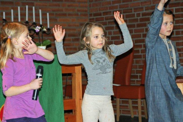 Solistene Maria Rensel, Emilie Granum og Maria Lien.