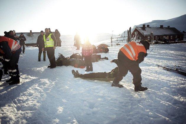 Forrige uke hadde Røde Kors øvelse på Hardangervidden. Lagene er sendt ut for å lete etter en savnet person, men får ny ordre underveis.
