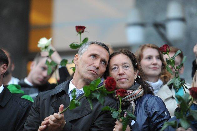 Jens Stoltenberg og kona Ingrid Schulerud på konserten.