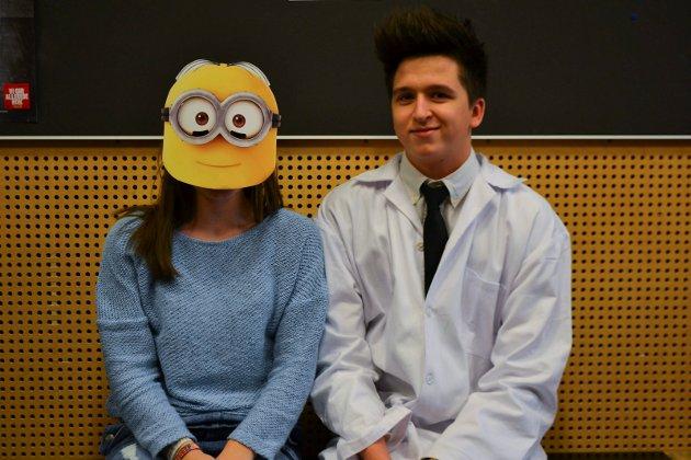 Moro: Fra venstre: Julie Marie Aasland (18) og Kristoffer Tegnér (18) syntes det var moro med temadag. Alle Foto: