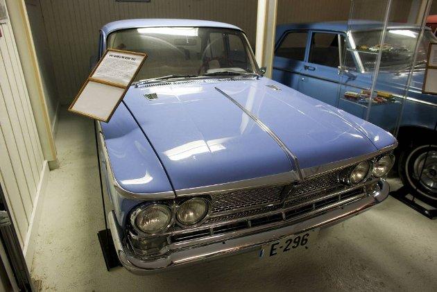 1966 modell PMC Gloria Six B200. Produsert av den japanske bilfabrikantenPrince Motor Company.