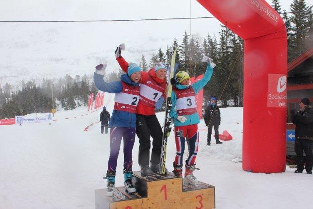 I kvinneklassen under årets Tjoaminnrenn var de Mari Eide med tiden 10:06 som var raskest ned løypen.  Astrid Øyre Slind kom inn på tiden 10:17 og Marthe Kristoffersen på 10:26 på 3.plass.
