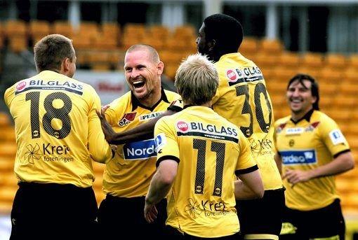 GLAD: Kasey Wehrman scoret i sin siste kamp på Åråsen.ALLE FOTO: ROAR GRØNSTAD