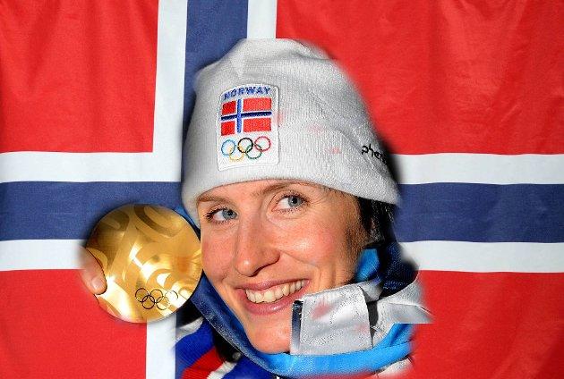 Marit Bjørgen sørget for norges første OL-gull i Vancouver 2010.