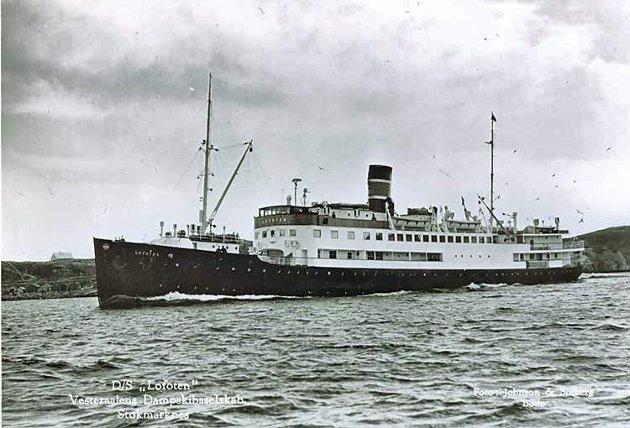 Levert 1932 fra Fredrikstad Mek Verksted for VDS.  Skipet hadde innredning av høy standard og ble Vesteraalskes flaggskip i Hurtigruten. Ble 1942 rekvirert av tyskerne for å føre Himmler og Terboven fra Oslo til Kirkenes og tilbake. I 1958 var Lofoten eldste skip i Hurtigruten og fortsatte til 1964, da hun kom på greske hender, ble ombygget og fikk navnet «Kypros». I 1966 oppsto brann om bord ved innseiling til Haifa, og der endte skipet sine dager.
