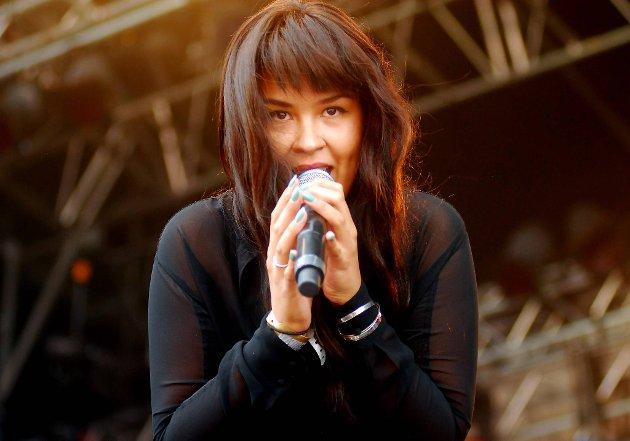 Maria Mena var en av artistene som opptrådte under siste dag av Øyafestivalen lørdag.