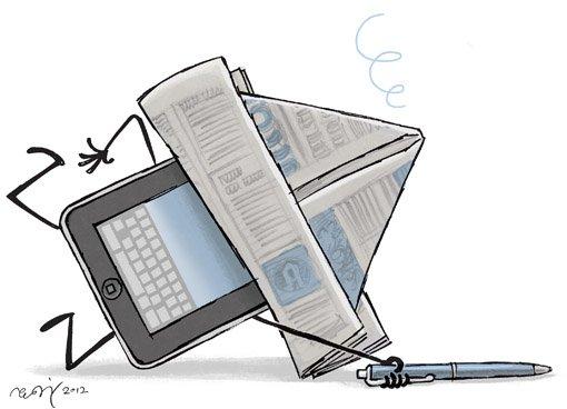 MEDIEVINGLING: Aviskonsernene søker etter svar.