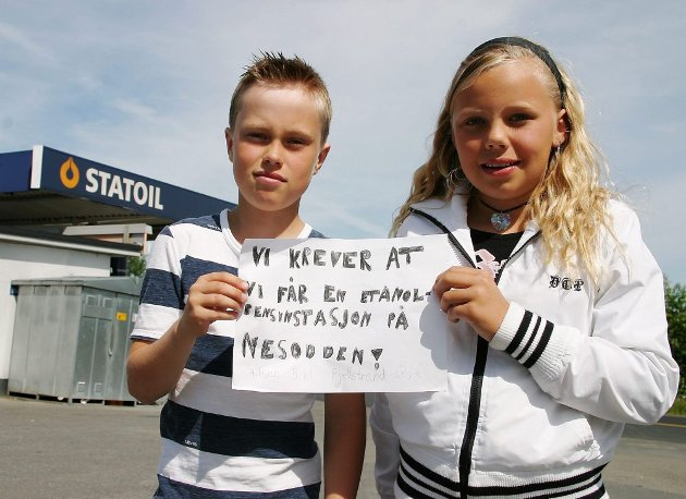 Mathias Halt Guttuhaugen og Josefine Pedersen brakte fram et budskap på vegne av svært mange.