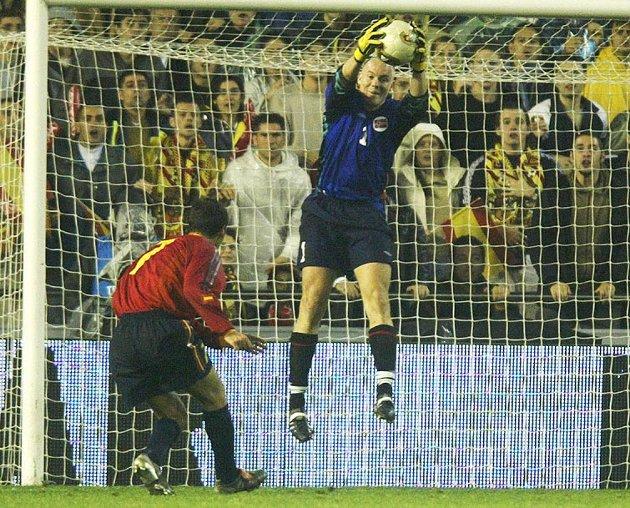 Spania-Norge EM-kval. 2003. Espen Johnsen.