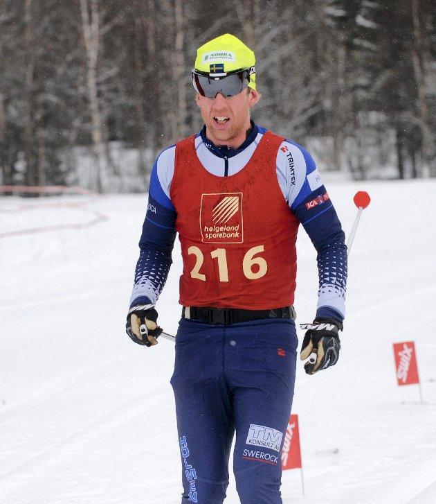Blåvegen 2012 Martin Rosvall, Lycksele, ble nummer to.