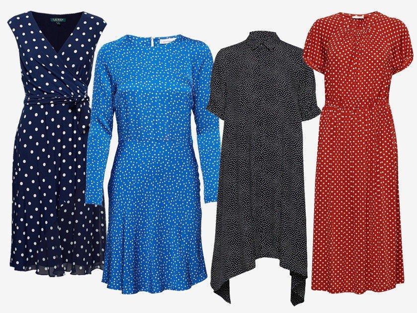 97a1785a Disse er en enkel modell som er lett å bruke til mange anledninger. Uansett  hvilken stil du har, så passer en prikkete kjole i garderoben din.