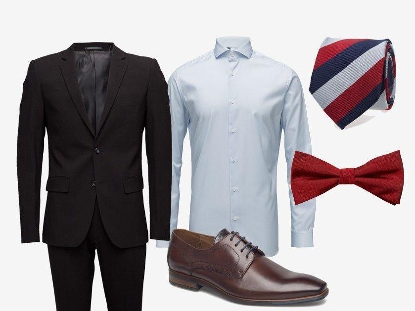 025546bb Ellers kan du holde det enkelt og velge en lyseblå skjorte. Gå for en rød  sløyfe eller dette slipset fra Tommy Hilfiger, som er perfekt til 17.mai.