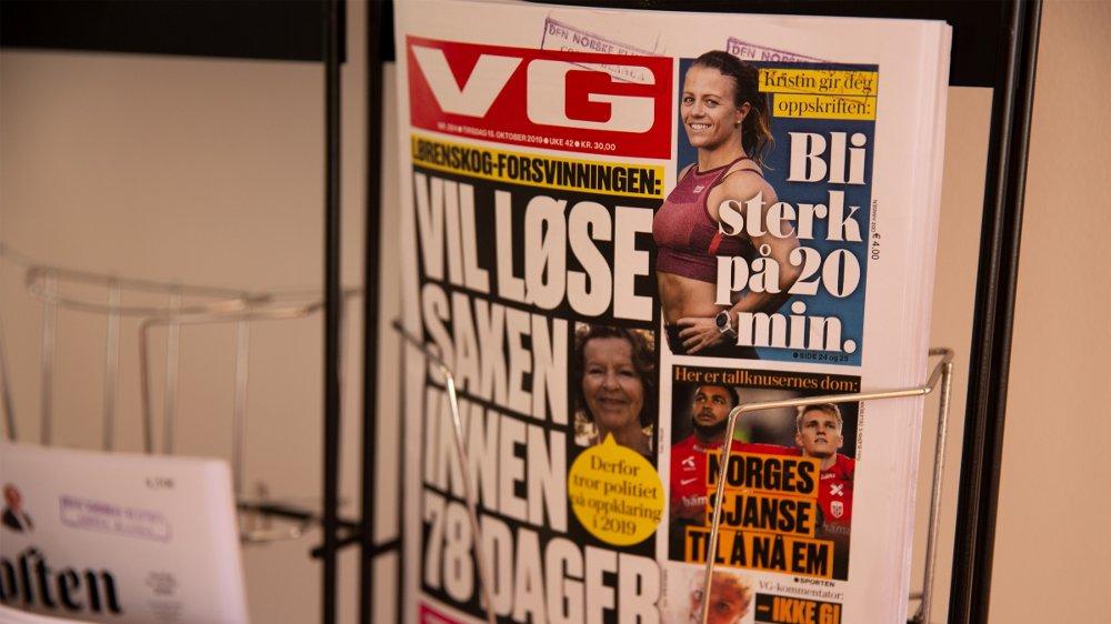 Klikk på bildet for å forstørre. Bilde av avisen VG