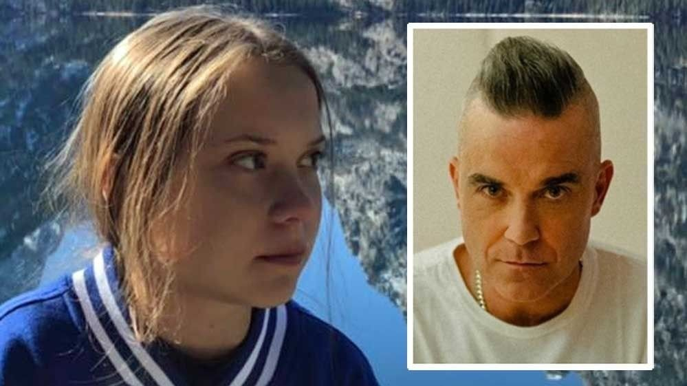 Klikk på bildet for å forstørre. greta-thunberg-og-Robbie-Williams