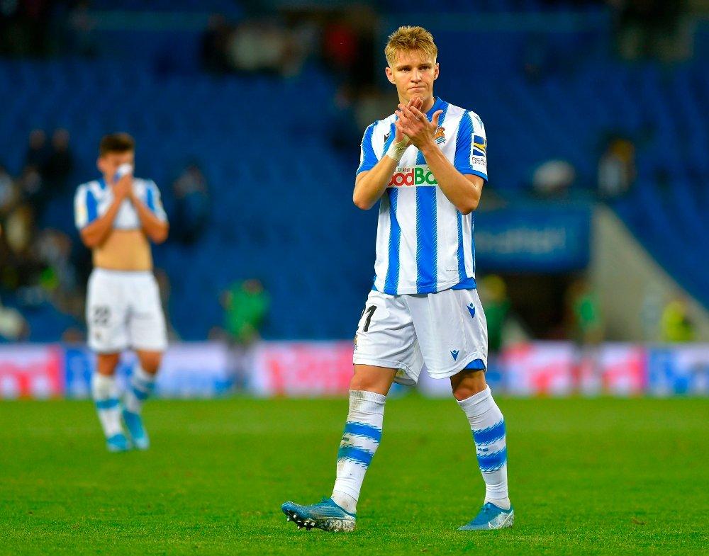 Klikk på bildet for å forstørre. LA REAL: Martin Ødegaard spiller for øyeblikket for Real Sociedad i Spania.