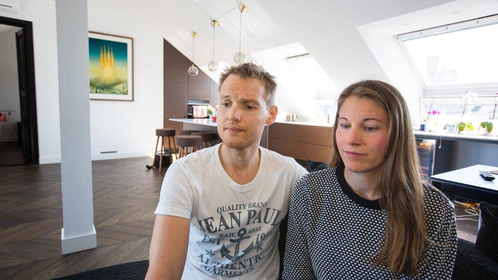 Klikk på bildet for å forstørre. Petter Nøtnes leier ut leiligheten sin på Majorstuen i Oslo på Airbnb. Erfaringene har ikke alltid vært god - for å si det mildt. Nettavisen møter paret i leiligheten 5. juli 2019.