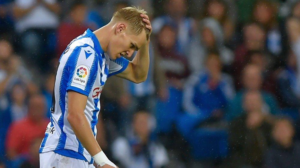 Klikk på bildet for å forstørre. MÅLLØS: Martin Ødegaard maktet ikke å tegne seg for målpoeng i tapet mot Levante. Her fra oppgjøret mot Getafe tidligere i sesongen.