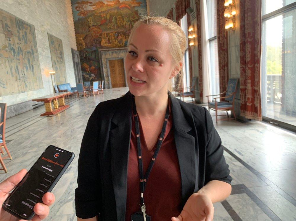 Klikk på bildet for å forstørre. Rødts gruppeleder i Oslo, Eivor Evenrud, skal i forhandlinger med byrådet.