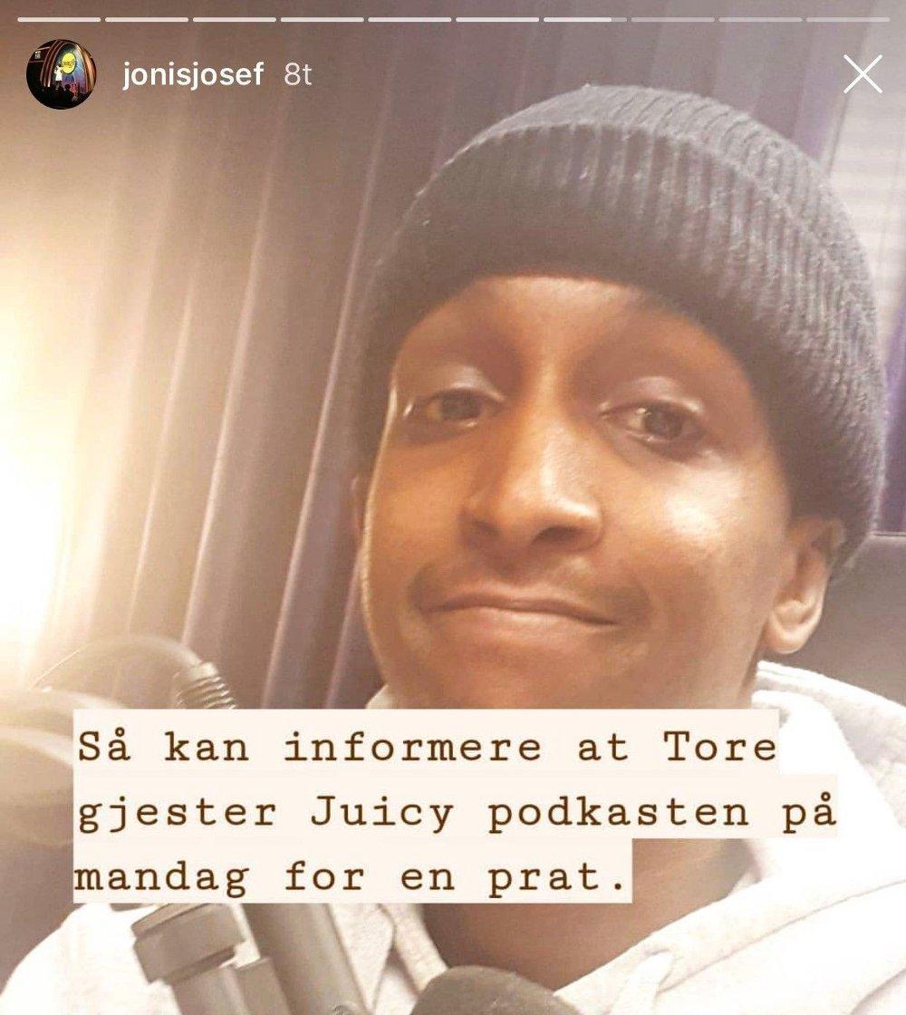 Klikk på bildet for å forstørre. INSTASTORY: Jonis Josef la ut begrunnelse på hvorfor han slettet Instagraminnlegget.