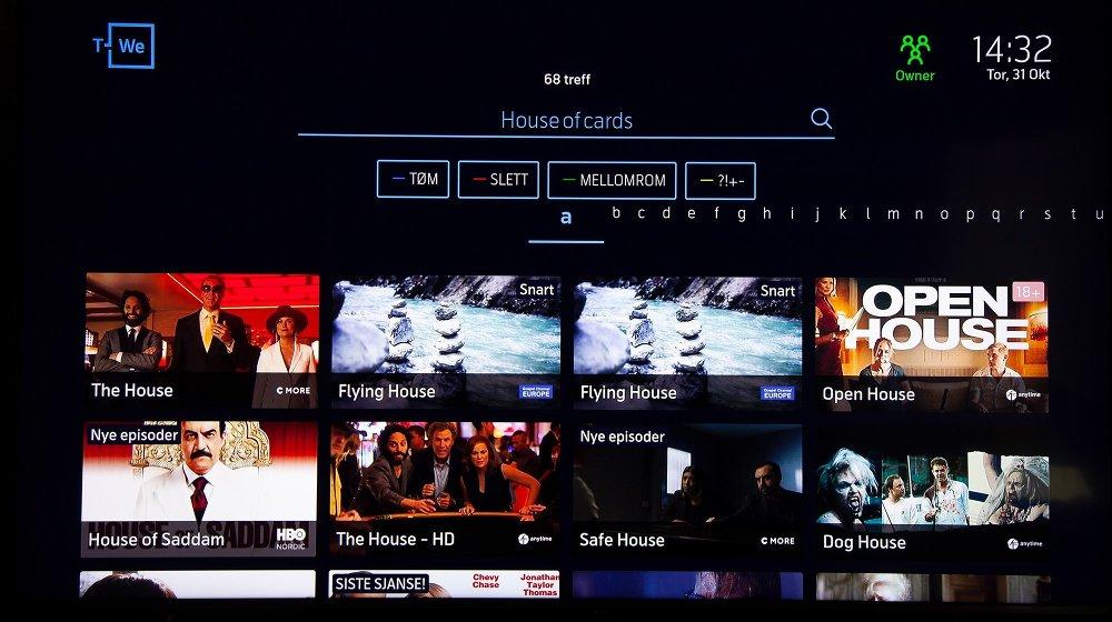 Klikk på bildet for å forstørre. House of Cards glimrer med sitt fravær i søket, selv om det er tilgjengelig på Netflix og vi er logget inn der.