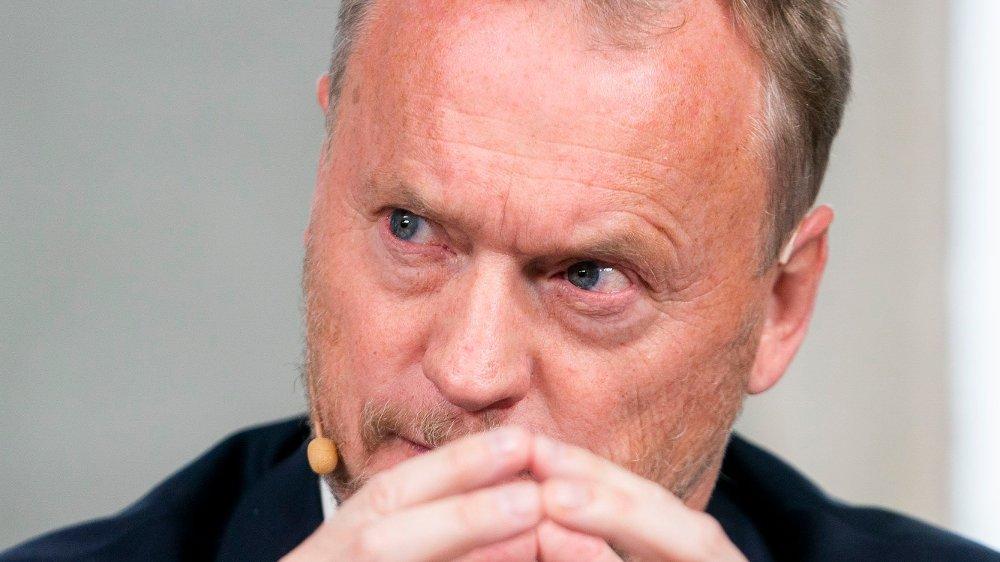 Klikk på bildet for å forstørre. Oslo 20191022. Raymond Johansen fra Arbeiderpartiet under pressekonferansen om byrådsforhandlingene i Oslo.