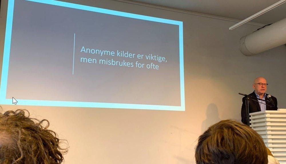 Klikk på bildet for å forstørre. Leder Sven Egil Omdal i det såkalte Kildeuvalget vil stramme inn bruken av anonyme kilder.