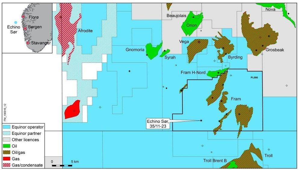 Klikk på bildet for å forstørre. Echino-sør befinner seg like nordvest for Trol-feltet.
