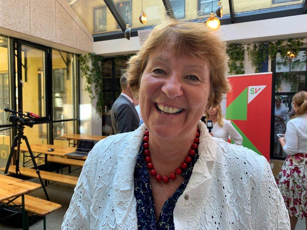 Klikk på bildet for å forstørre. Oslos ordfører Marianne Borgen på SVs valgkampåpning i Oslo.