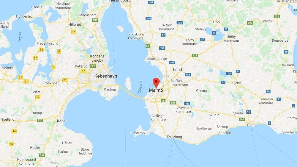 Klikk på bildet for å forstørre. Politiet har fått meldinger fra flere som har hørt mulige eksplosjoner i Malmö lørdag kveld.