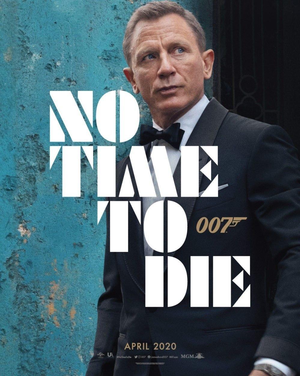 Klikk på bildet for å forstørre. Daniel Craig i sin angivelig siste rolle som James Bond. «No Time to Die» har premiere i april 2020.