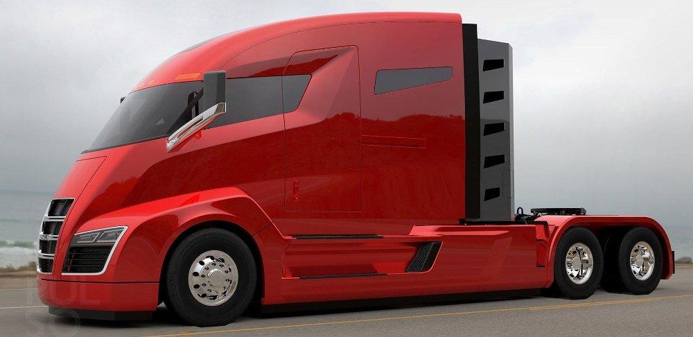 Klikk på bildet for å forstørre. Hydrogen-lastebilprodusenten Nikola, her mer modellen One, spås av flere å kunne revolusjonere tungtransporten.