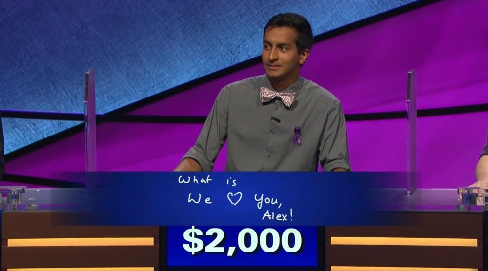 Klikk på bildet for å forstørre. Dhruv Gaur på Jeopardy.