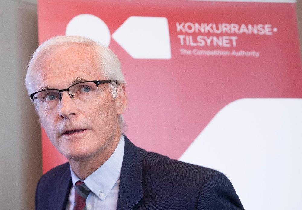 Klikk på bildet for å forstørre. Konkurransetilsynet og direktør Lars Sørgard ilegger Telenor et enormt gebyr.