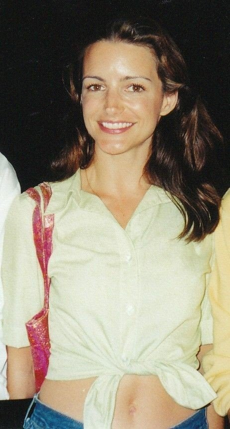 Klikk på bildet for å forstørre. Photo of actress Kristin Davis, taken at the HBO party after the 1999 Emmy Awards.