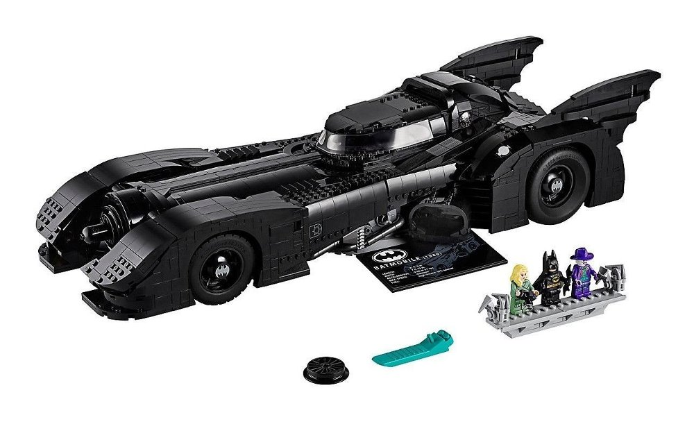 Klikk på bildet for å forstørre. Bilde av Batman-bil i LEGO