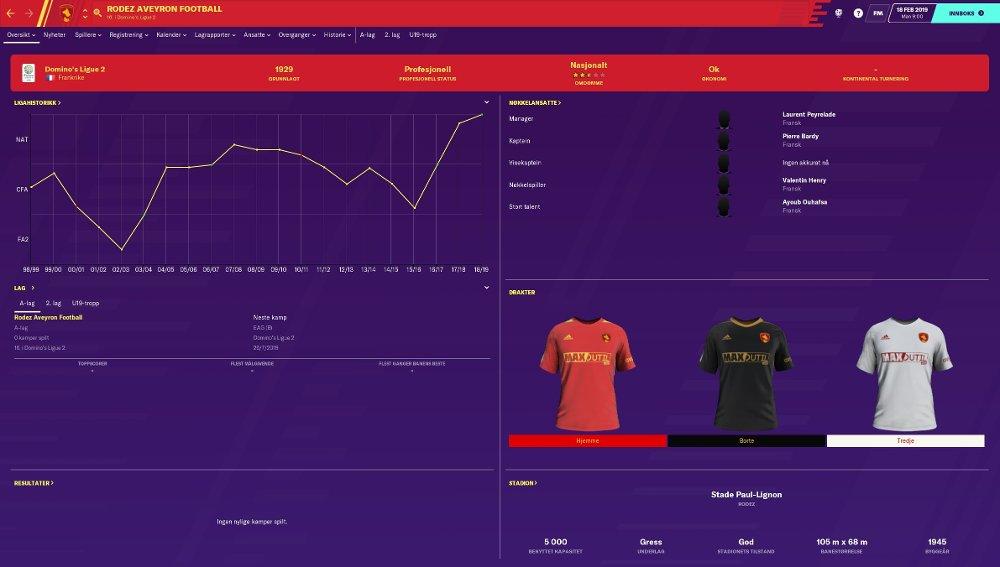Klikk på bildet for å forstørre. Skjermdump fra spillet Football Manager 2020.
