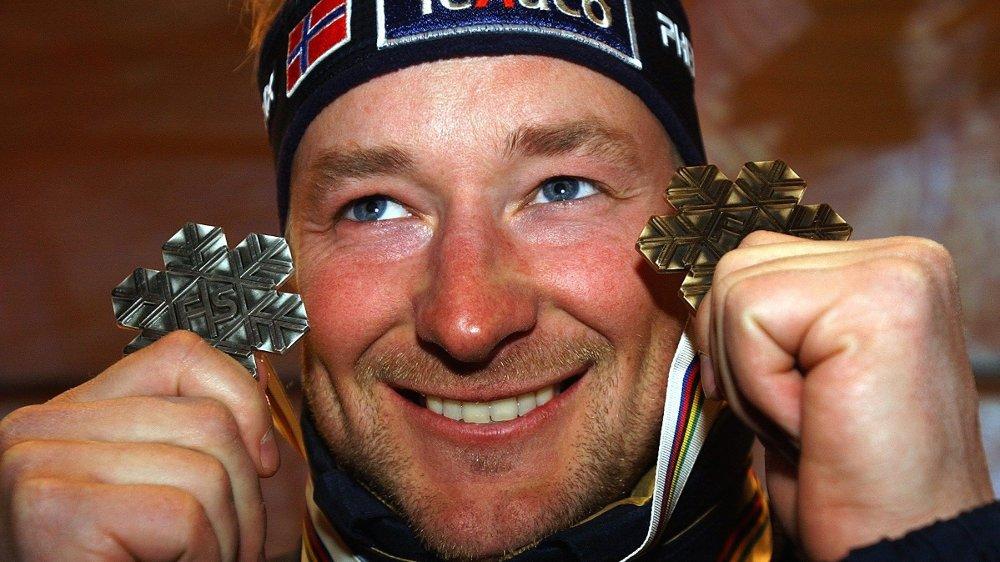 Klikk på bildet for å forstørre. MEDALJEGROSSIST: Kjetil André Aamodt tok blant annet fire OL-gull og fem VM-gull i løpet av sin karriere.