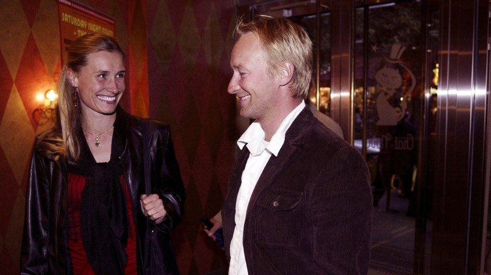 Klikk på bildet for å forstørre. GIFT: Kjetil André Aamodt er gift med Stine Østvold. Her fra et arrangement i 2004.