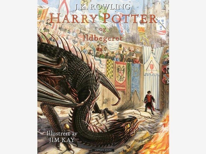 Klikk på bildet for å forstørre. Harry Potter og Ildbegeret illustrert av J. K. Rowling