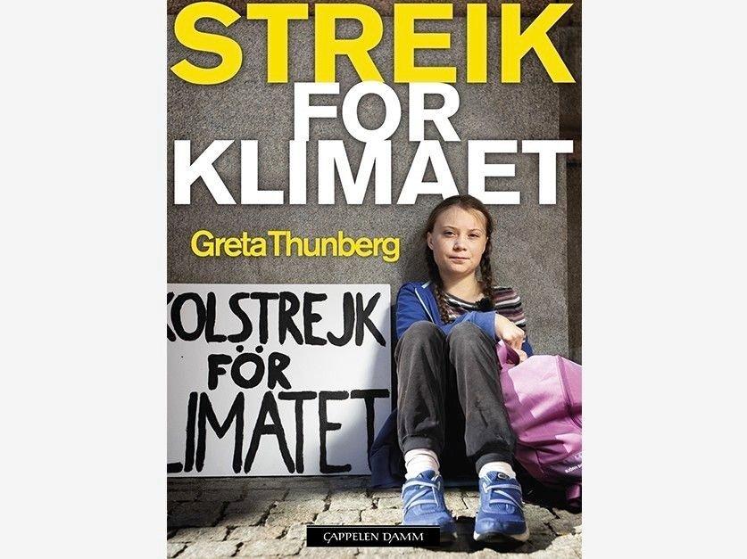 Klikk på bildet for å forstørre. Streik for klimaet av Greta Thunberg