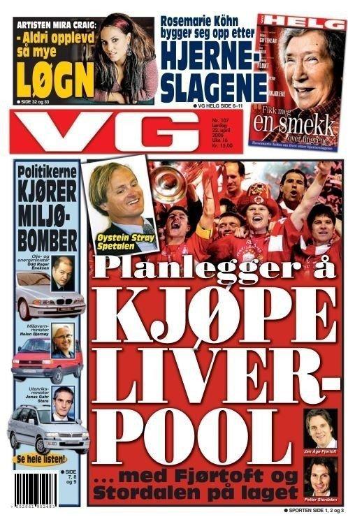 Klikk på bildet for å forstørre. KUNNE BLITT SPORTSDIREKTØR - ELLER?: 22. april 2006 meldte VG at Jan Åge Fjørtoft kunne blitt sportsdirektør i Liverpool ved et potensielt norsk oppkjøp.