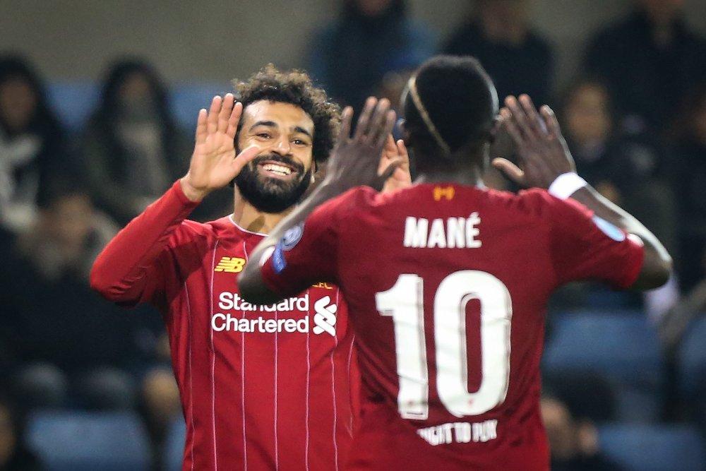 Klikk på bildet for å forstørre. TOPSHOT - Liverpool's Egyptian midfielder Mohamed Salah