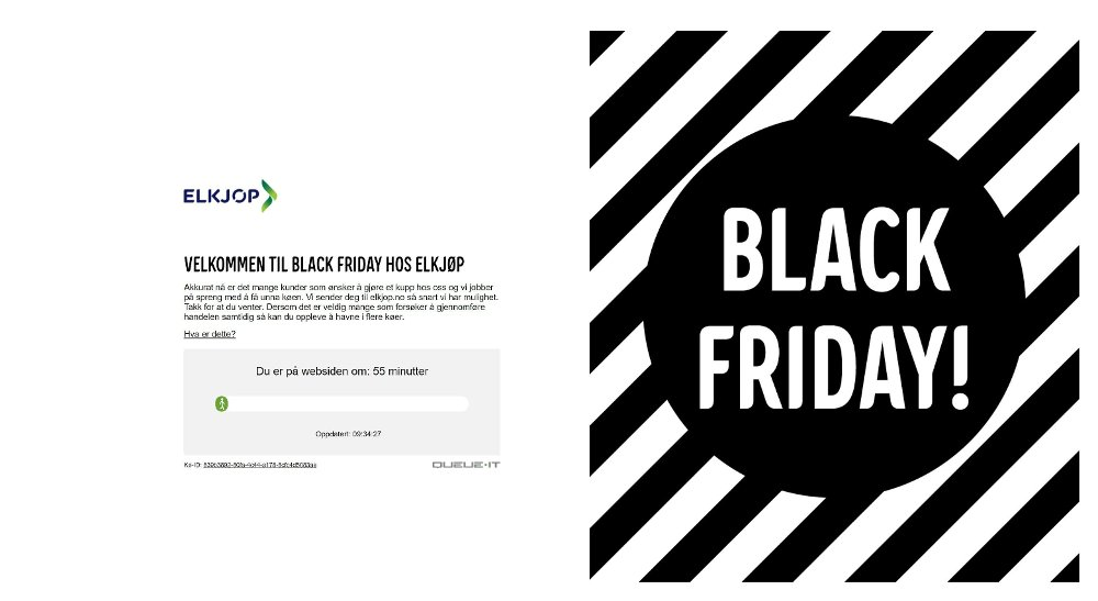 Klikk på bildet for å forstørre. skjermbilde av Elkjøps nettbutikk med ventetid