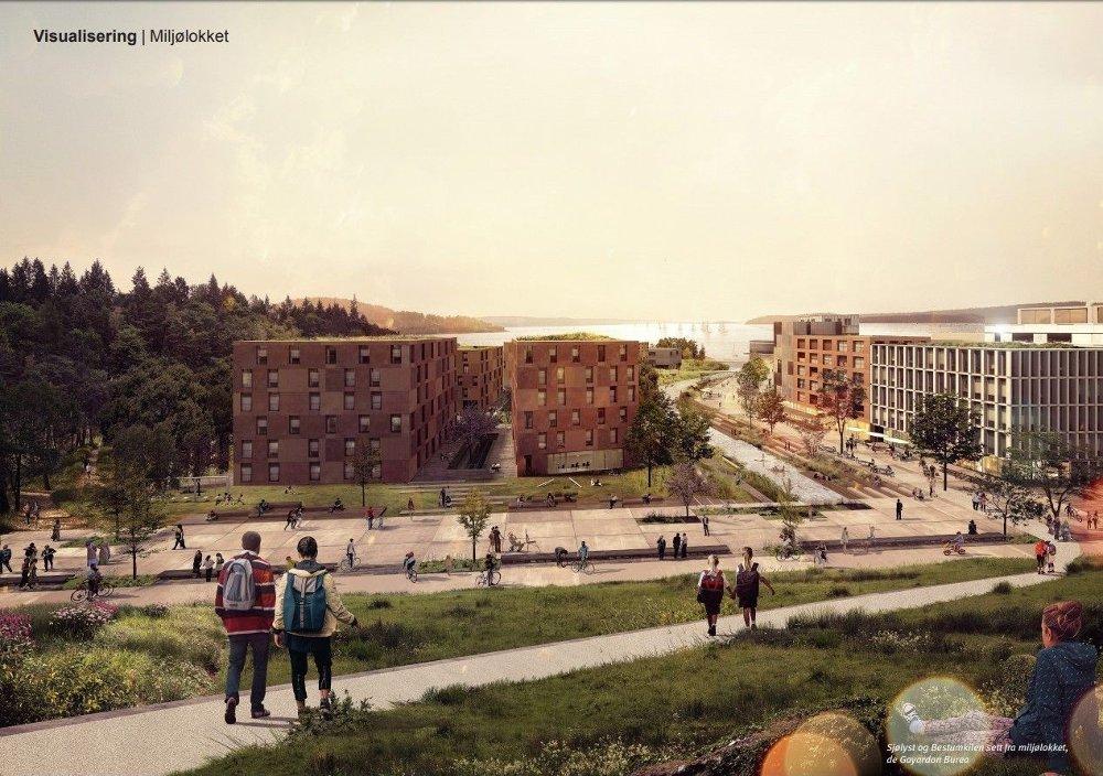 Klikk på bildet for å forstørre. Skøyen planer Oslo